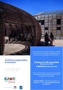 """Colloque """" Territoires responsables et innovants """" @ palais des arts"""