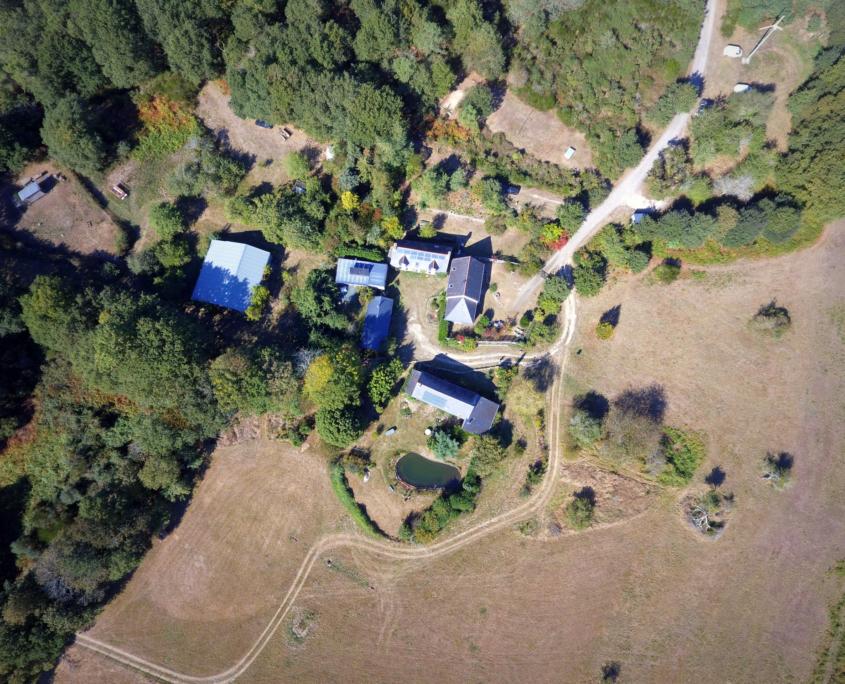 Vue aérienne Ecovillage Morbihan